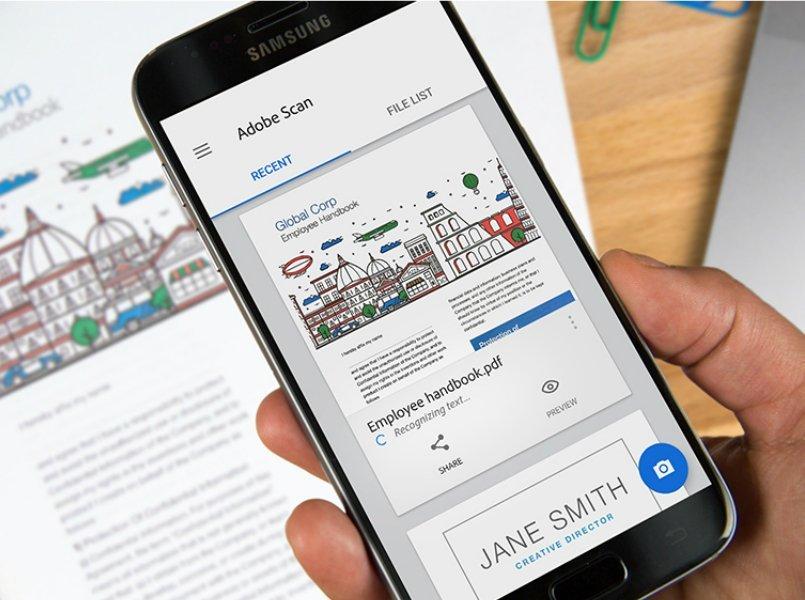 Adobe scan con reconocimiento de imágenes para Android e iOS