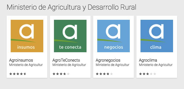 APPs del Ministerio de Agricultura y Desarrollo rural de Colombia