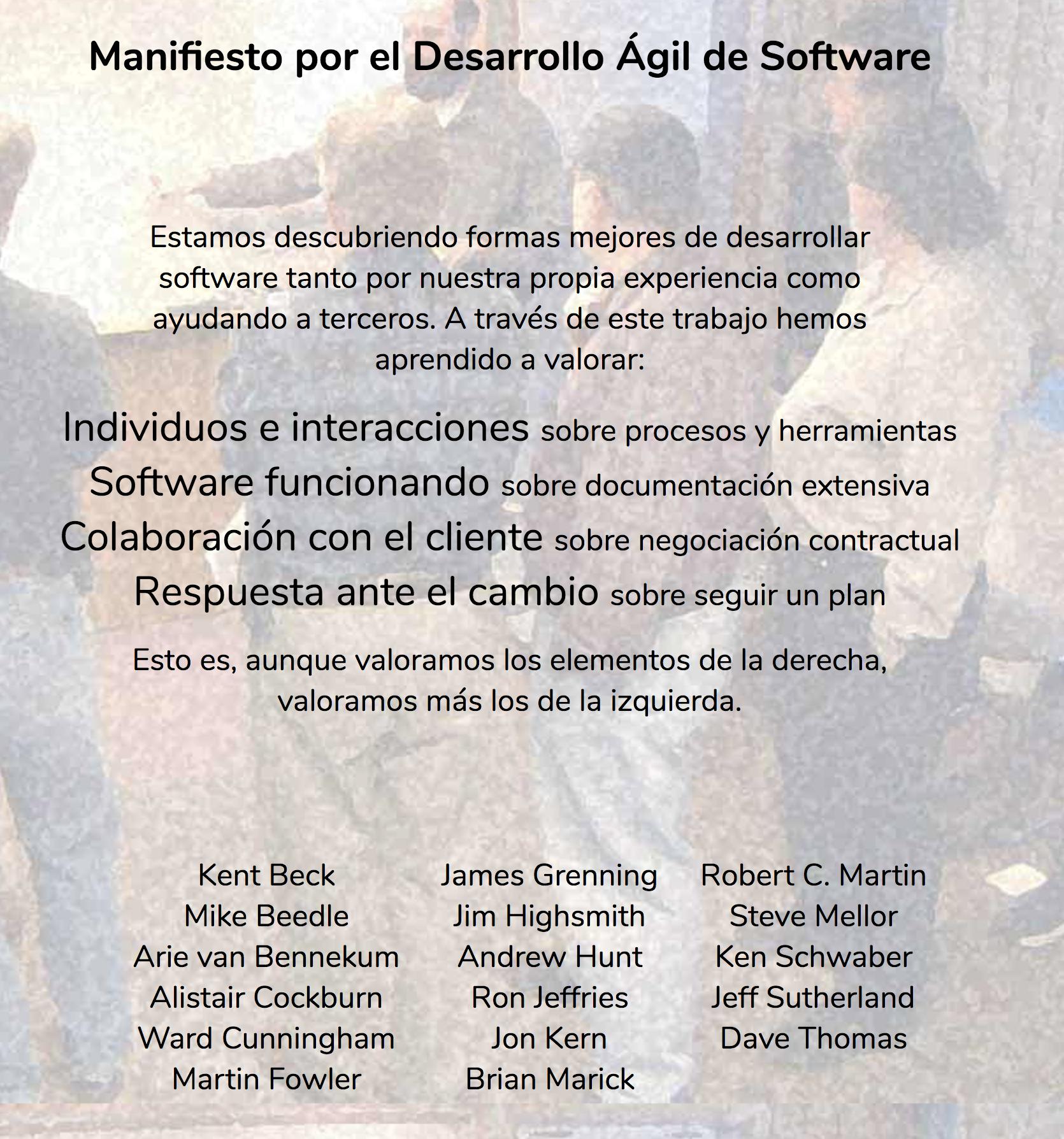 Manifiesto por le Desarrollo Ágil de Software