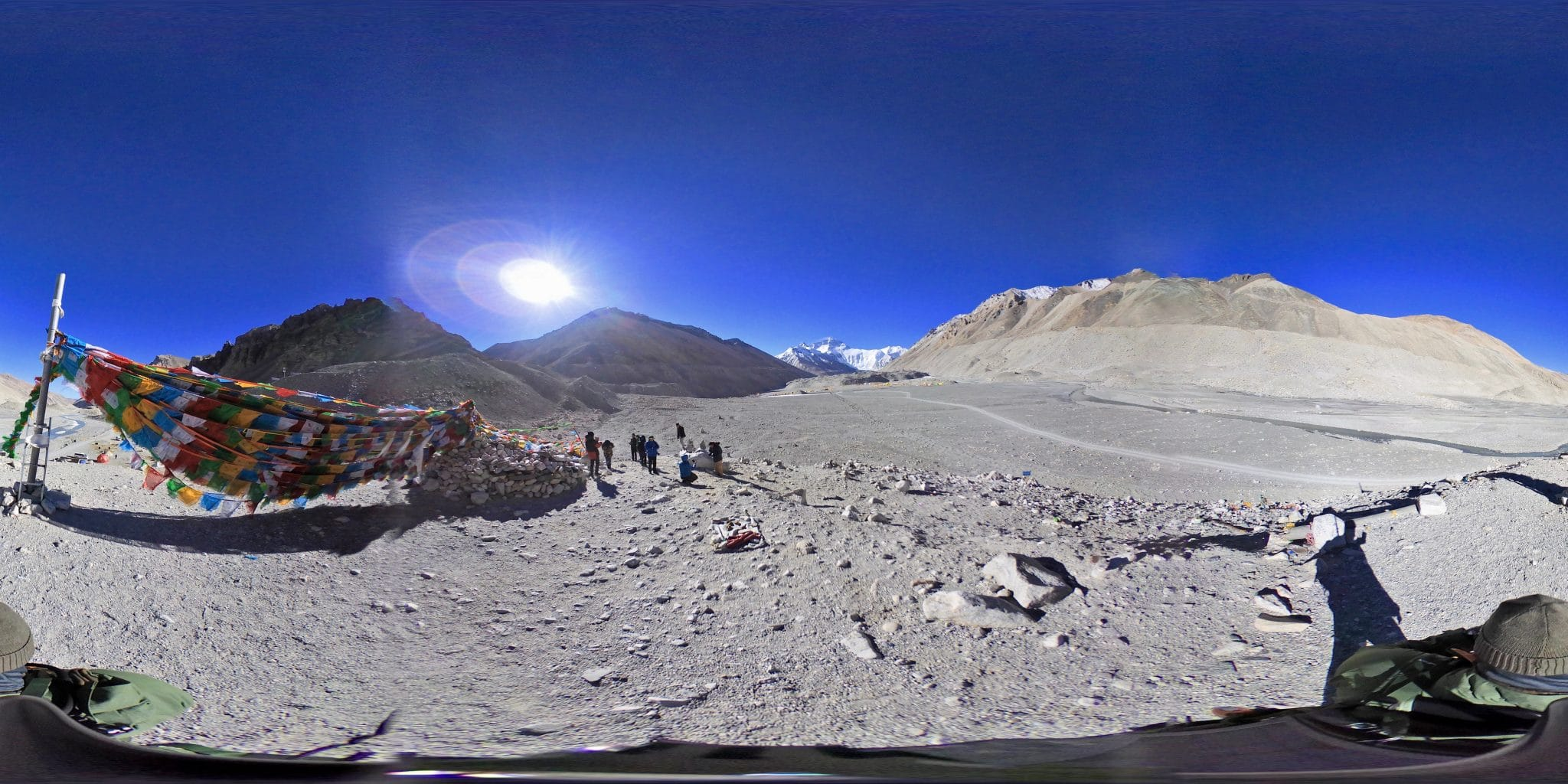 Imagen cercana al campo base del Everest