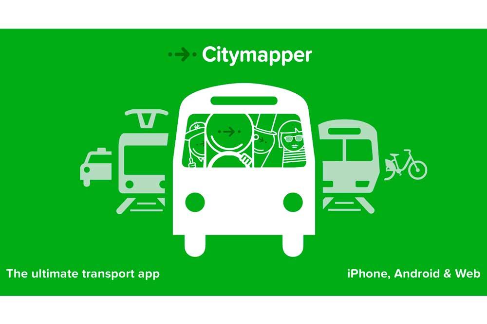 App Citymapper para transporte en ciudades