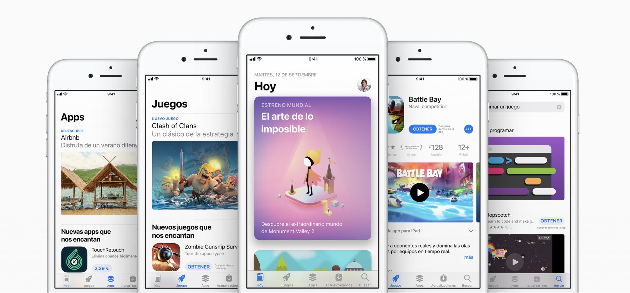 Dispositivos iOS versión 11.0.1