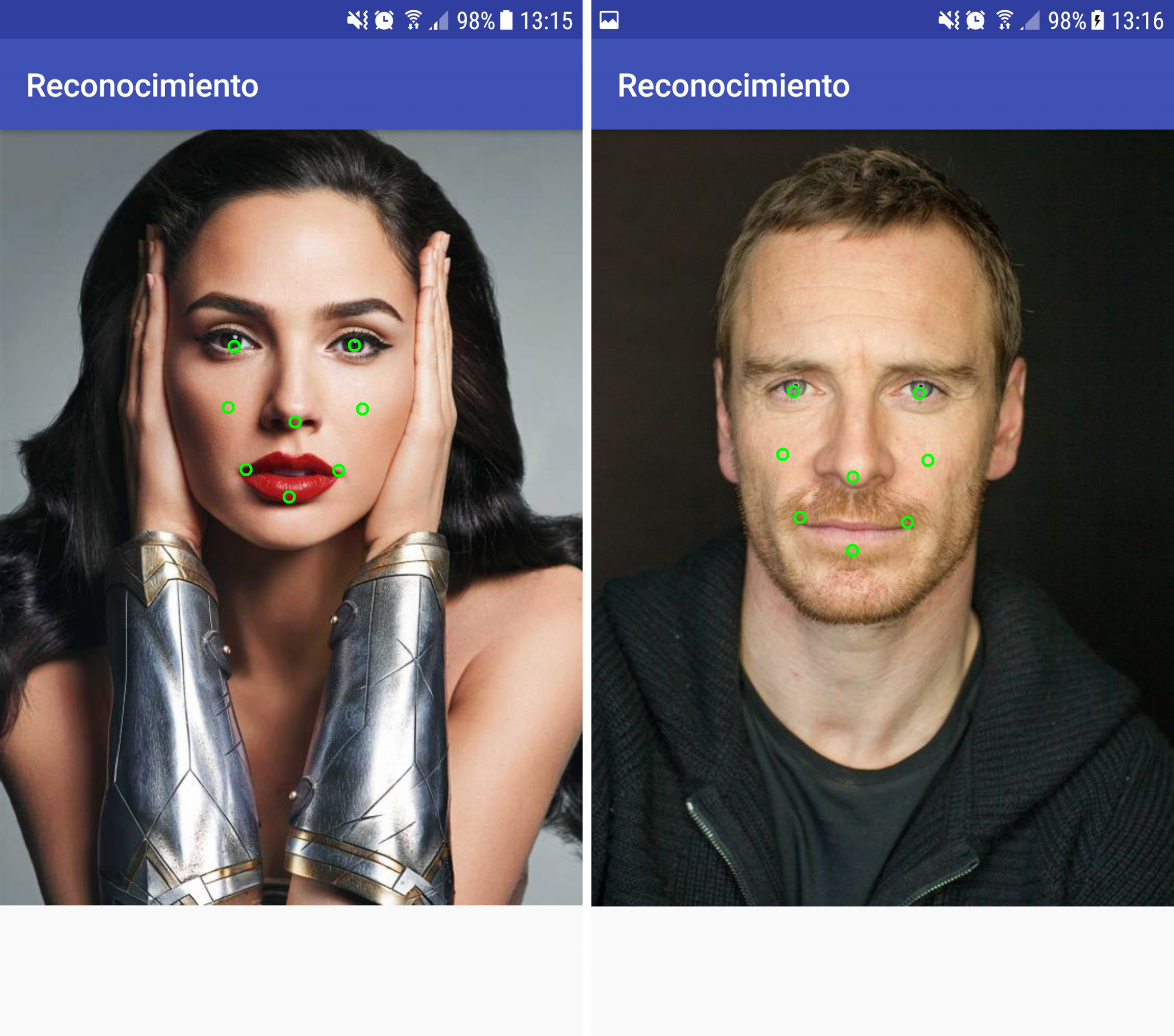 Marcas reconocimiento facial