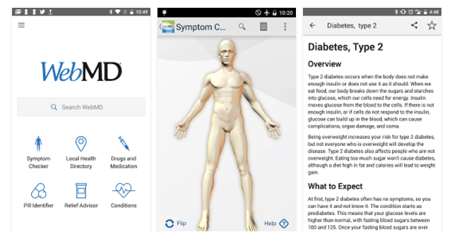 App WebMD Symptom Checker